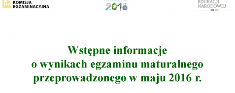 Okręgowa Komisja Egzaminacyjna w Poznaniu opublikowała wstępne wyniki egzaminu maturalnego przeprowadzonego w maju 2016 r.